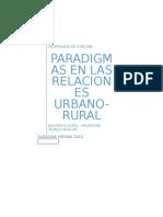 Paradigmas en Las Relaciones Urbano-rural