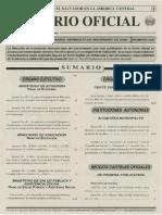 Diario Oficial de El ESA Manejo de Quimicos