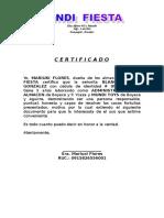 Certificacion Mundi Fista