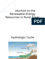 Introduction to the Renewable Energy Resources in Rural
