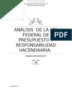 Análisis de La Ley Federal de Presupuestos y Responsabilidad Hacendaria