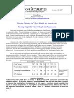 GOOG, YHOO, AMZN Estimates and Targets