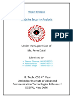 Web Security - Project Synopsis Final