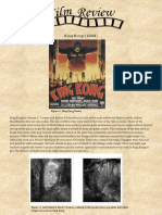 Review of King Kong (1933) by Merian C. Cooper and Ernest B Schoedsack