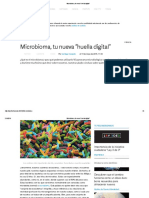 Microbioma, tu nueva huella digital