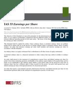 IAS 33 Earnings Per Share