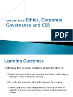 Lecture 1 Business Ethics, Corporate Governance & CSR