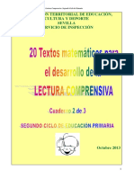 Textos Matematicos - Lectura Comprensiva - e. Primaria Ciclo 2