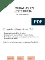 Ecografías en Obstetricia