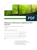 Makalah Pancasila Sebagai Etika Politik