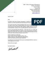 Donation Letter Changes