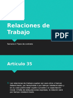 Relaciones de Trabajo contratos
