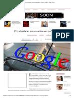 19 Curiosidades Sobre o Google