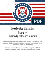 WikiLeaks Podesta Email Release Google Doc as of October 31, 2016