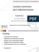 Construction Contracts and Project Administration