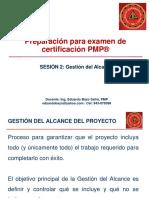 Preparacion Para Pmp, Sesion 2, Gestion Del Alcance Rev 1