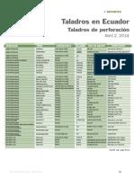 Revista Petroleo y Gas - Reporte Taladros en Ecuador Abril 2014