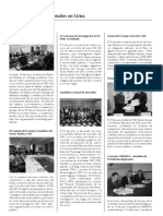 Actividades Institucionales en Lima