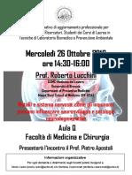 Incontro Prof. Lucchini 26 Oct 2016