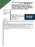 NBR 247 - Cabos isolados com policloreto de vinila (PVC) para tensoes nominais ate 450 750 V incl.pdf
