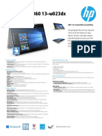 2016 HP Spectre x360 13 Datasheet