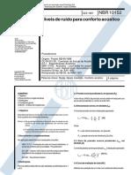 NBR-10152 - Nivel de Ruido Para Conforto Acustico