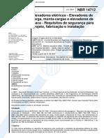 NBR-14712 - Elevadores Eletricos - Elevadores de Carga Monta-cargas e Elevadores de Maca