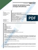 NBR 05419 - 2001 - Proteção de Estruturas Contra Descargas Atmosféricas
