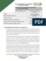 Formato Unico Acta Informe de Gestion