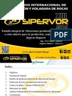 PPT SIPERVOR - Estudio Integral de Vibraciones Producidas Por Voladuras a Cielo Abierto Para La Predicción%2c Control y Diseño de Futuros Disparos