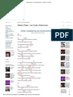 Alberto Plaza - Las Cuatro Estaciones - Acordes D Canciones
