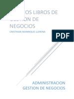 Ensayo libros de gestion Cristhian Manrique Llerena