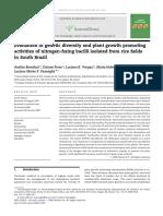 Beneduzi Et Al. 2008_Evaluasi of Genetic Diversity and Plant Growth