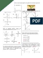 D27 – Identificar a Representação Algébrica e Ou Gráfica de Uma Função Exponencial.
