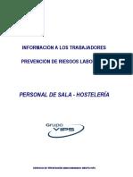 Ficha Informativa Personal de Sala - Hosteleria