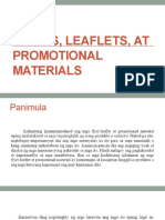 Flyers, Leaflets, At Promotional Materials
