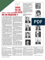 Ten former school board members on why you should vote No on Measure Y
