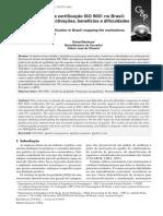 Um Estudo Sobre a Certificação ISO 9001 No Brasil_ Mapeamento de Motivações, Beneficios e Dificuldades