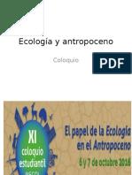 Ecología y Antropoceno