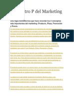 Las Cuatro P Del Marketing y CRM