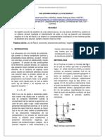 Laboratorio 2 Ley de Raoult
