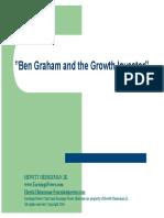 Ben Graham and the Growth Investor Talks @ Google Final 021616