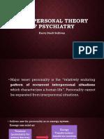 SULLIVAN Interpersonal Theory of Psychiatry