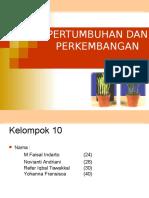 PPT Pertumbuhan Dan Perkembangan