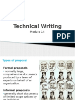 Types of Proposal