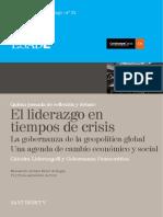 33. AA.vv. El Liderazgo en Tiempos de Crisis. La Gobernanza de La Geopolítica Global. Una Agenda de Cambio Económico y Social