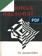 Revista Biblioteca Nacional n20 Diciembre 1980