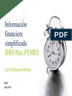 Informacion Financiera Simplificada IFRS Para Pymes