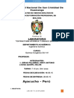 Informe Quimica IV Estructura Atomica Enlace
