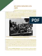 El New Deal Como Solución a La Crisis de 1929